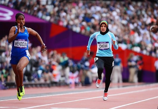 First Afghan Woman Olympian, competes under great duress