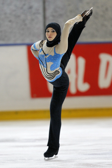 First figure skater to compete with hijab