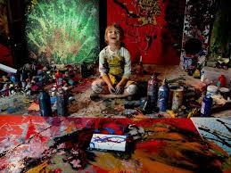 Aelita in her studio [www.lifestylemirror.com]