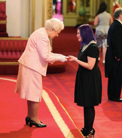 Tabby meeting Her Majesty Queen Elizabeth II