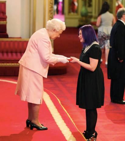 Tabby meeting Her Majesty Queen Elizabeth II